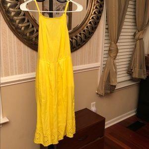 Yellow eyelit dress So size M